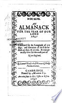 An Almanack For The Year Of Our Lord 1647