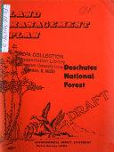 Deschutes National Forest (N.F.), Management Plan