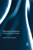 Defendant Participation in the Criminal Process Pdf/ePub eBook