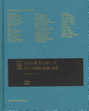 Annual Review of Materials Research 2011 Book