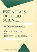 Essentials of Food Science Book