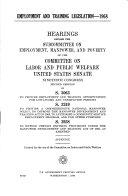 Employment and Training Legislation  1968