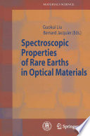 Spectroscopic Properties of Rare Earths in Optical Materials Book