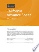 """California Advance Sheet February 2012"" by Fastcase"