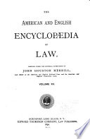 The American and English Encyclop  dia of Law  Jointure to Lease Book