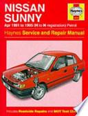 Nissan Sunny (91-95) Service and Repair Manual