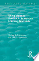 Using Student Feedback to Improve Learning Materials Book