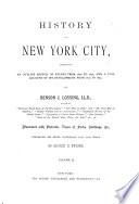 History of New York City Book