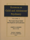Handbook of child and adolescent psychiatry