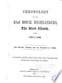 Chronology of the 42nd Royal Highlanders  The Black Watch  from 1729 to 1892