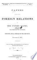 Papers Relating To The Foreign Relations Of The United States0