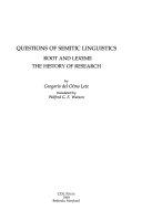Questions of Semitic Linguistics