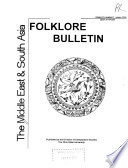 The Middle East & South Asia Folklore Bulletin