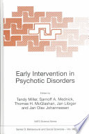 Early Intervention In Psychotic Disorders Book PDF