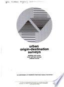 Urban Origin Destination Surveys