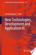 New Technologies  Development and Application III