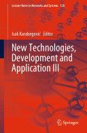 New Technologies  Development and Application III