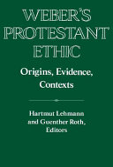 Weber's Protestant Ethic