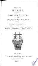 Select Works of the British Poets Pdf/ePub eBook