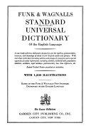 Funk & Wagnalls Standard Universal Dictionary of the English Language
