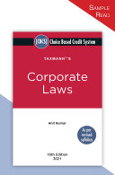 Pdf Taxmann's Corporate Laws - Provides the Convoluted Legal Provisions in a More Simplified & Concise Manner | Choice Based Credit System (CBCS) | B.Com. (Hons.) | 10th Edition | March 2021 Telecharger