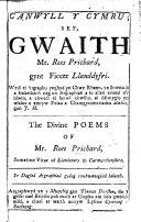 Canwyll y Cymru ... Yr nawfed argraphiad gydag ymchwanegiad helaeth