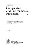 Advances in Comparative and Environmental Physiology Book
