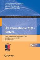 HCI International 2021   Posters