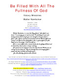 Be Filled with All the Fullness of God