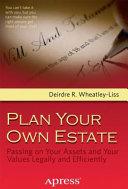Plan Your Own Estate Book