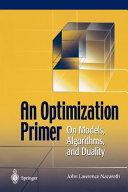 An Optimization Primer