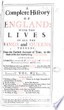 A Complete History of England  I  The history of King Henry VIII   written by Edward  lord Herbert of Cherbury
