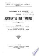 Jurisprudencia de los tribunales en materia de accidentes del trabajo