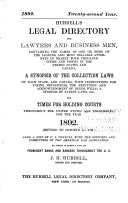 Hubbell s Legal Directory for Lawyers and Business Men