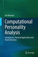 Computational Personality Analysis Book