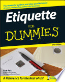 """Etiquette For Dummies"" by Sue Fox"