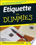 """Etiquette For Dummies"" by Sue Fox"