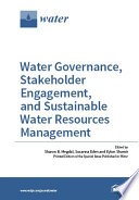 Water Governance Stakeholder Engagement And Sustainable Water Resources Management
