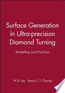 Surface Generation in Ultra precision Diamond Turning Book