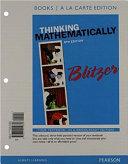 Thinking Mathematically, Books a la Carte Edition
