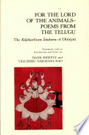 For the Lord of the Animals ; Poems from the Telugu
