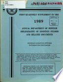 Quarterly Supplement To The Annual Department Of Defense Bibliography Of Logistics Studies And Related Documents