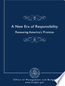 A New Era Of Responsibility Renewing America S Promise