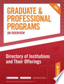 Peterson S Graduate Professional Programs An Overview Directory Of Institutions And Their Offerings