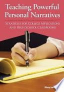 Teaching Powerful Personal Narratives