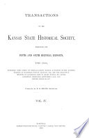 Transactions of the Kansas State Historical Society