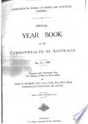 Official Year Book of the Commonwealth of Australia No  22   1929 Book