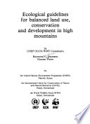 Ecological Guidelines for Balanced Land Use  Conservation and Development in High Mountains