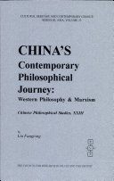 China's Contemporary Philosophical Journey