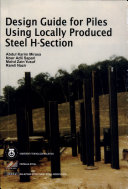 Design Guide for Piles Using Locally Produced Steel H-Section